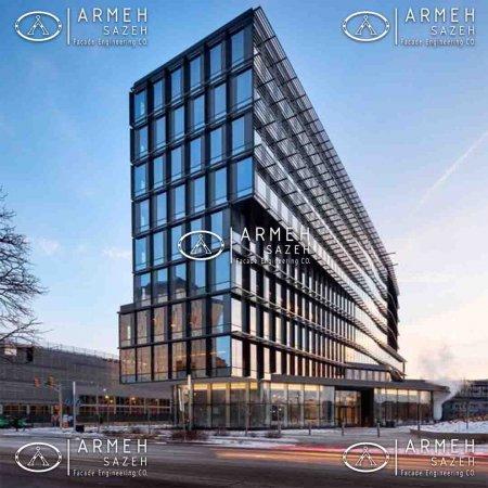 بررسی پوسته دوم یک ساختمان اداری با نمای کرتین وال از منظر نور روز و مصرف انرژی