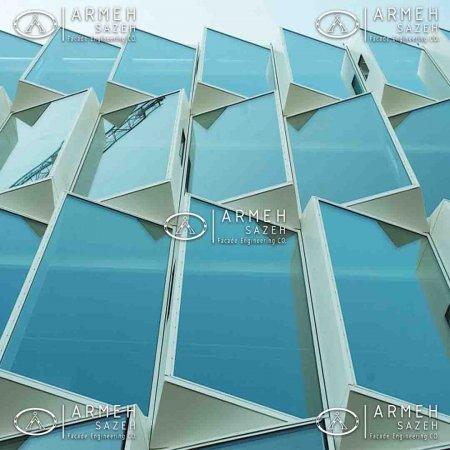 انتخاب شیشه ایده آل برای نمای کرتین وال